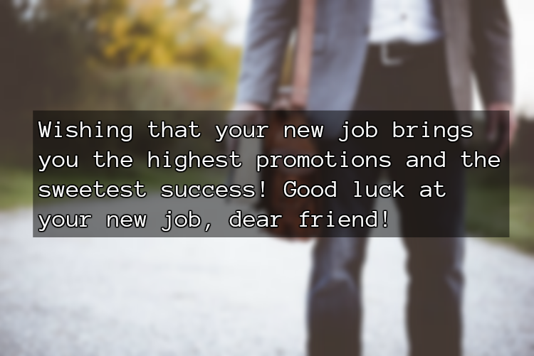 New Job Quote Wish for Friend
